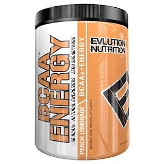 EVLution Nutrition, BCAA Energy, Peach Lemonade, 11.4 oz (324 g)