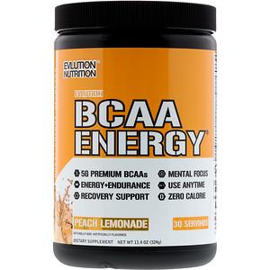 Эвлюшэн Нутришен, BCAA Energy, Peach Lemonade, 11.4 oz (324 g) отзывы
