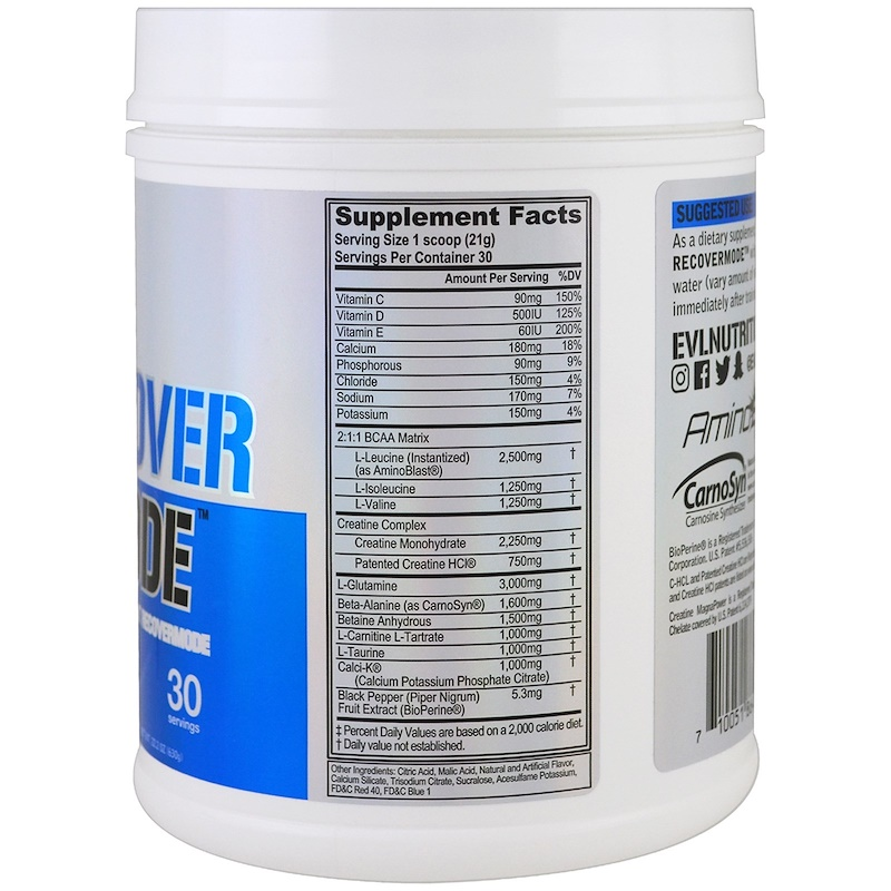 EVLution Nutrition, RECOVERMODE, Post-Workout RECOVERMODE, Furious Grape, 22.2 oz (630 g) - photo 1