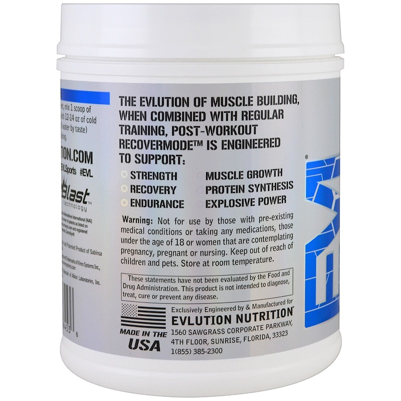 EVLution Nutrition, RECOVERMODE, Post-Workout RECOVERMODE, Furious Grape, 22.2 oz (630 g) - photo 2