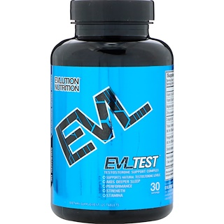 EVLution Nutrition, EVLTest, Testosterone Support Complex, 120 Tablets