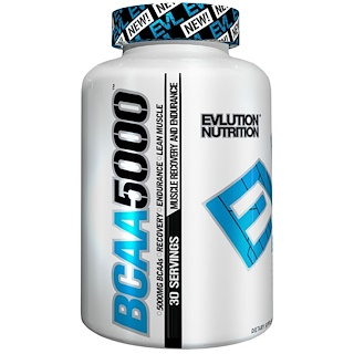 EVLution Nutrition, BCAA 5000, 240 Капсул