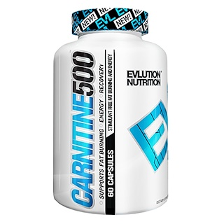 EVLution Nutrition, Carnitine 500, 60 Capsules