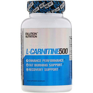 EVLution Nutrition, L-Carnitine500, 60 Capsules