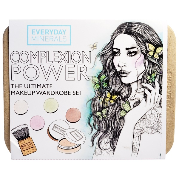 Everyday Minerals, Complexion Power, The Ultimate Makeup Wardrobe Set, 7 Piece Kit (Discontinued Item)