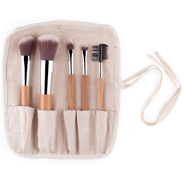 Everyday Minerals, Bamboo Brush Kit, 5 Piece (Discontinued Item)