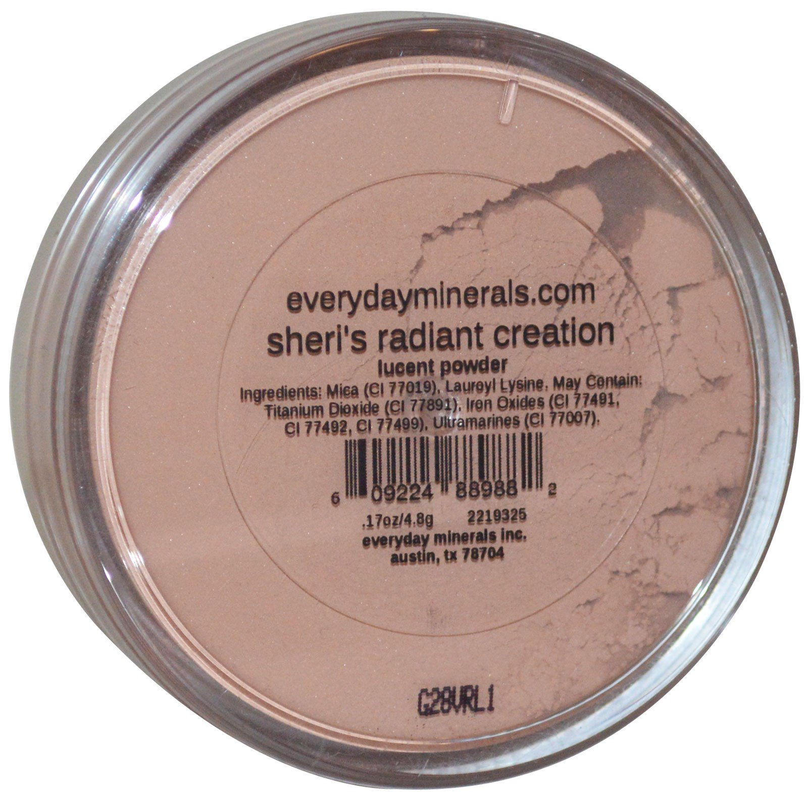 everyday minerals face lucent powder sheri 39 s radiant creation 17 oz 4 8 g. Black Bedroom Furniture Sets. Home Design Ideas