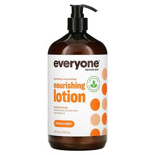 Everyone, Nourishing Hands and Body Lotion, Citrus + Mint, 32 fl oz (946 ml)