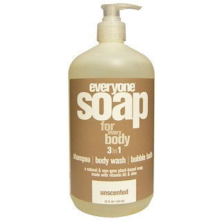 Everyone, Soap For Everybody 3 in 1, Unscented, 32 fl oz (946 ml)