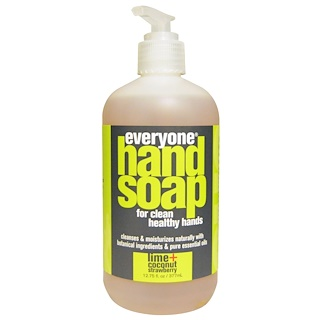 Everyone, Hand Soap, Lime + Coconut Strawberry, 12.75 fl oz (377 ml)