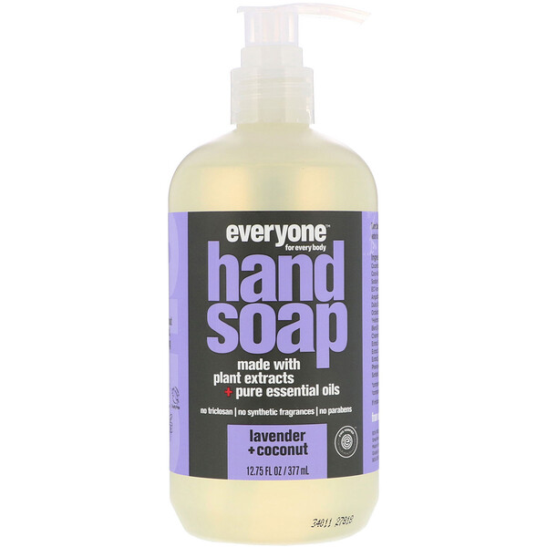 Hand Soap, Lavender + Coconut, 12.75 fl oz (377 ml)
