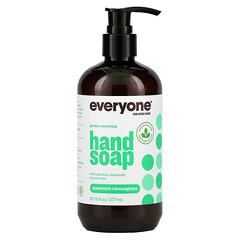 Everyone, 洗手液,綠薄荷 + 檸檬草,12.75液體盎司(377毫升)