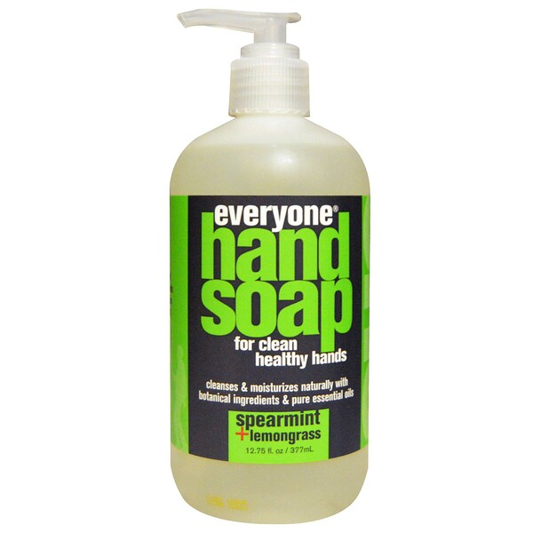 Everyone, Hand Soap, Spearmint + Lemongrass, 12.75 fl oz (377 ml) (Discontinued Item)