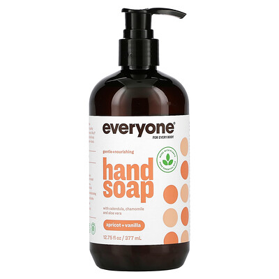 Everyone Hand Soap, Apricot + Vanilla, 12.75 fl oz (377 ml)