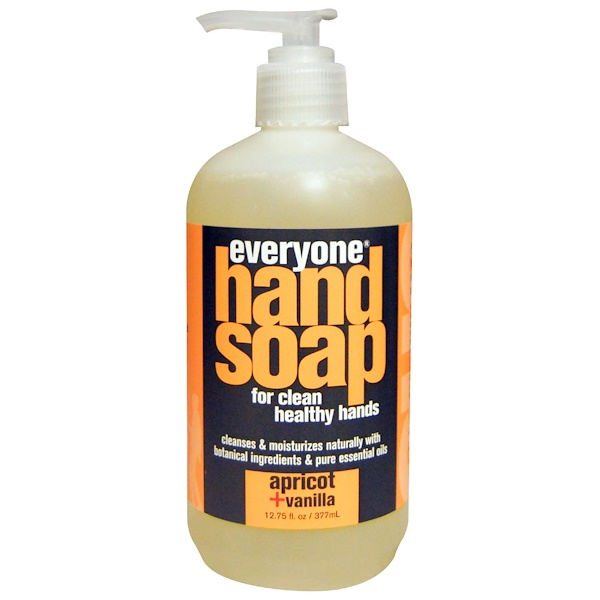 Everyone, Hand Soap, Apricot + Vanilla, 12.75 fl oz (377 ml)