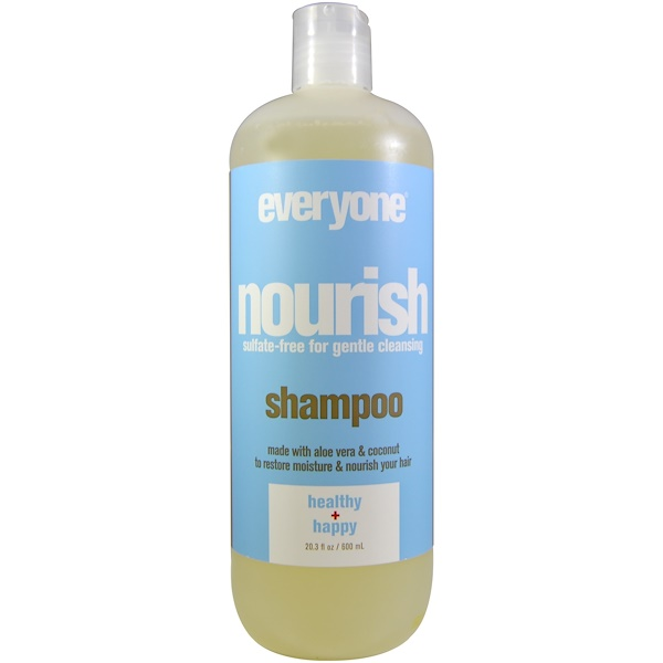 洗浴及美容頭髮和頭皮Shampoo & Conditioner:Everyone, Nourish, Shampoo, Health + Happy, 20、3 fl oz (600 ml)