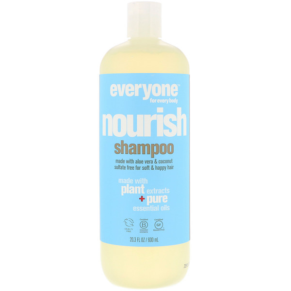 Everyone, Nourish, Shampoo, 20.3 fl oz (600 ml) (Discontinued Item)