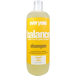 Everyone, Balance, Shampoo, Smooth + Shiny, 20.3 fl oz (600 ml)