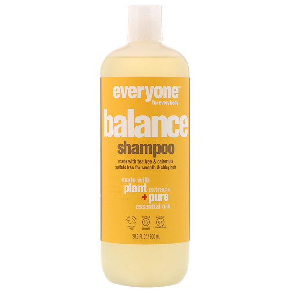 Everyone, Balance, Shampoo, Smooth & Shiny, 20.3 fl oz (600 ml) (Discontinued Item)