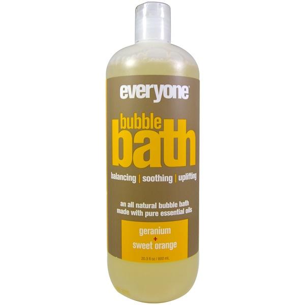 Everyone, Bubble Bath, Geranium + Sweet Orange, 20.3 fl oz (600 ml)