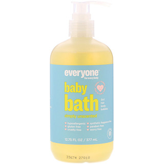 Everyone, Baby Bath, Simply Unscented, 12.75 fl oz (377 ml)