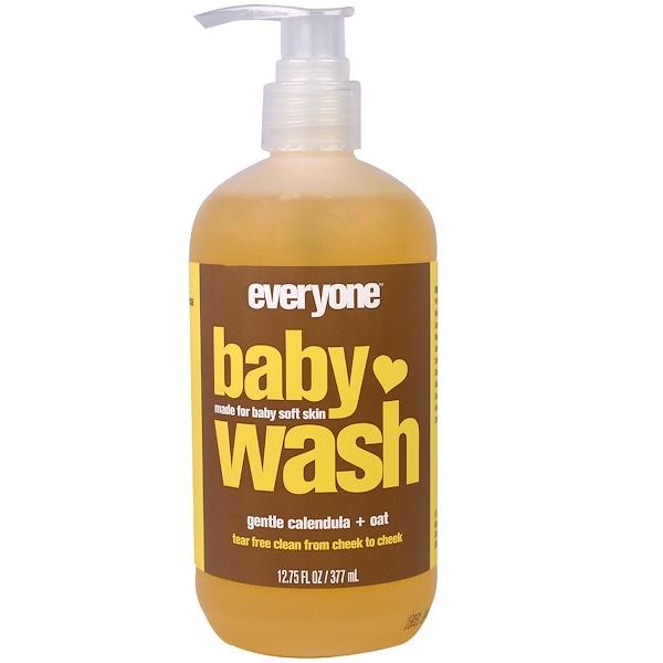 Everyone, Baby Wash, Gentle Calendula + Oat, 12.75 fl oz (377 ml)