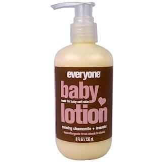 Everyone, Baby Lotion, Calming Chamomile and Lavender, 8 fl oz (236 ml)