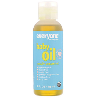 Everyone, Organic Baby Oil, Simply Unscented, 4 fl oz (118 ml)