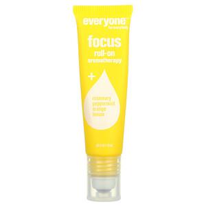 Everyone, Roll-On Aromatherapy, Focus, 0.33 fl oz (10 ml)