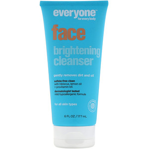 Everyone, Face Brightening Cleanser, 6 fl oz (177 ml)