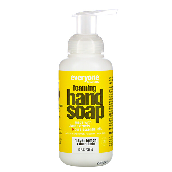 Everyone, Foaming Hand Soap, Meyer Lemon + Mandarin, 10 fl oz (296 ml)