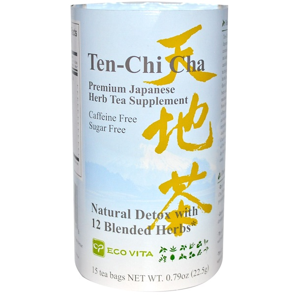 Eco Vita, Ten-Chi Cha, Premium Japanese Herb Tea Supplement, Caffeine Free, 15 Tea Bags, 0.79 oz (22.5 g) (Discontinued Item)