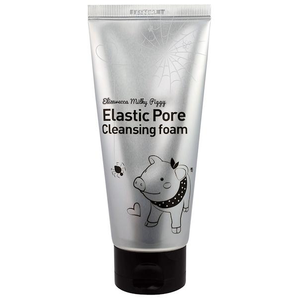 Elizavecca, Elastic Pore Cleansing Foam, (120 ml) (Discontinued Item)