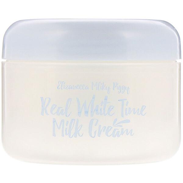 Milky Piggy, Real White Time Milk Cream, 3.53 oz (100 g)