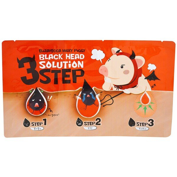 Milky Piggy 3 Step Black Head Solution, 6 g