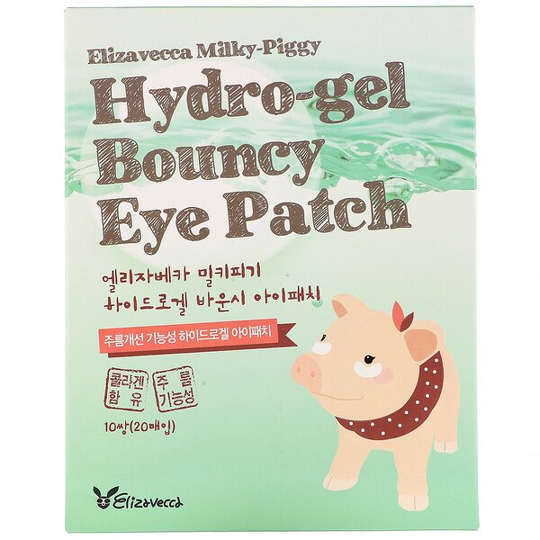 Milky Piggy, Hydro-gel Bouncy Eye Patch, 10 Pairs