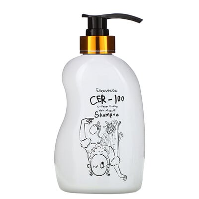 Купить Elizavecca CER-100 Collagen Coating Hair Muscle Shampoo, 16.9 fl oz (500 ml)