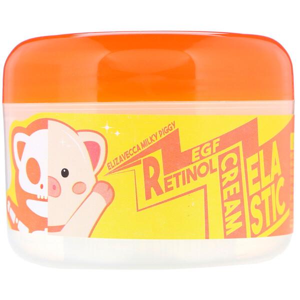 Elizavecca, Crema elástica con retinol y factor de crecimiento epidérmico Milky Piggy, 100g (3,53oz)