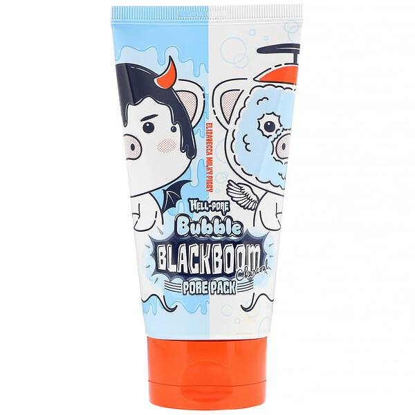 Milky Piggy, Hell-Pore, Bubble Blackboom Charcoal Pore Pack, 5.07 fl oz (150 ml)