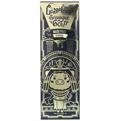 Elizavecca Hell-Pore Longolongo Gronique Gold Mask Pack, 3.38 fl oz (100 ml)