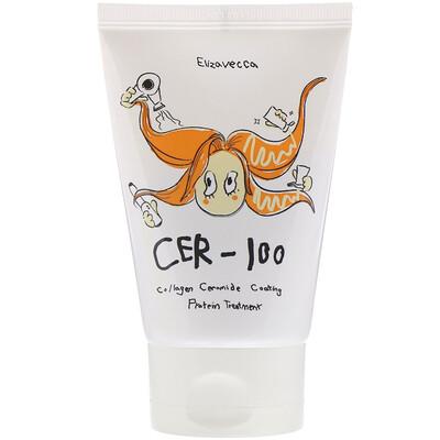 Купить Elizavecca CER-100, восстанавливающая маска для волос с коллагеном и керамидами, 100 мл (3, 38 жидк.унций)