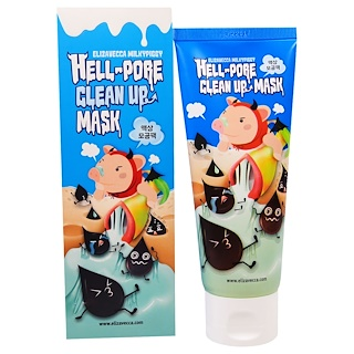 Elizavecca, Hell-Pore Clean Up Mask, 3.38 fl oz (100 ml)