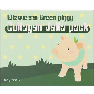 Elizavecca, Green Piggy, Collagen Jelly Pack, 3.53 oz (100 g)