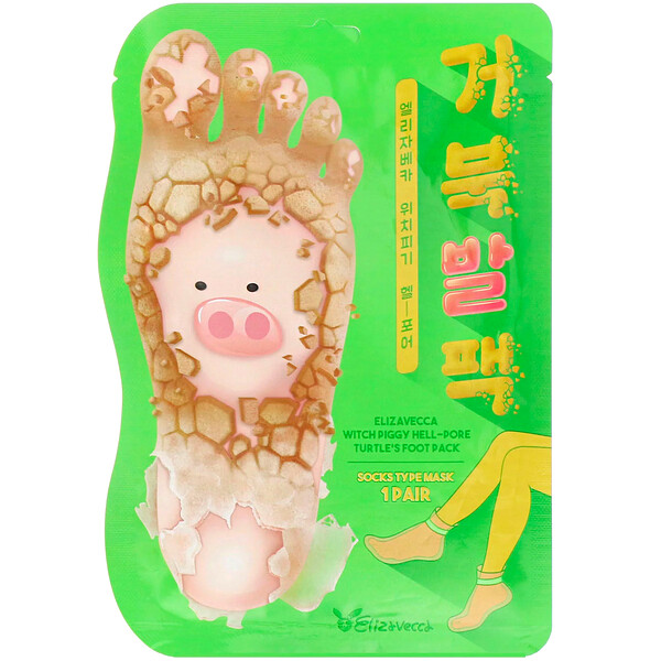 Elizavecca, Witch Piggy, Hell-Pore, Turtle's Foot Pack, 1 Pair, 1.41 oz (40 g)