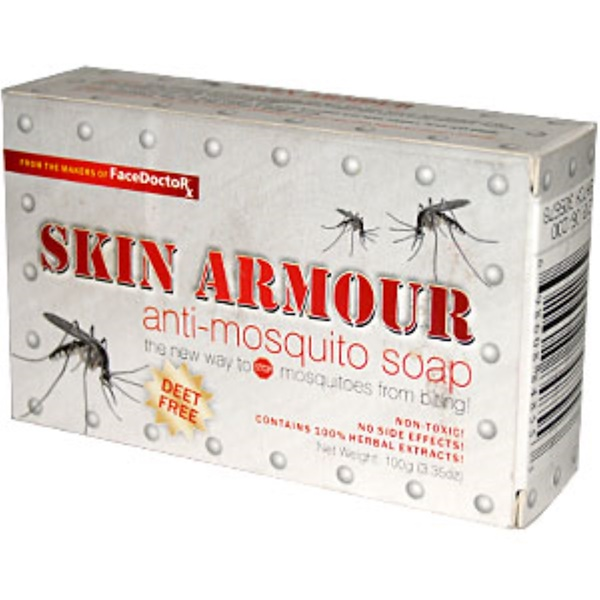 Face Doctor, Skin Armour, Anti-Mosquito Soap, 3.35 oz (100 g) (Discontinued Item)