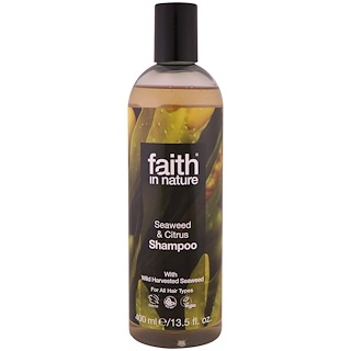 Faith in Nature, Shampoo, For All Hair Types, Seaweed & Citrus, 13.5 fl. oz (400 ml)