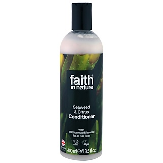 Faith in Nature, Conditioner, For All Hair Types, Seaweed & Citrus, 13.5 fl oz (400 ml)