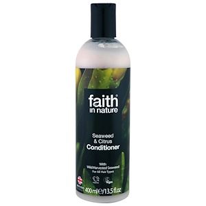 Faith in Nature, Conditioner, For All Hair Types, Seaweed & Citrus, 13.5 fl oz (400 ml) отзывы