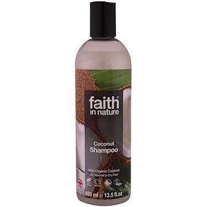 Faith in Nature, Шампунь, для нормальных и сухих волос, кокос, 13,5 жидк. унц. (400 мл)