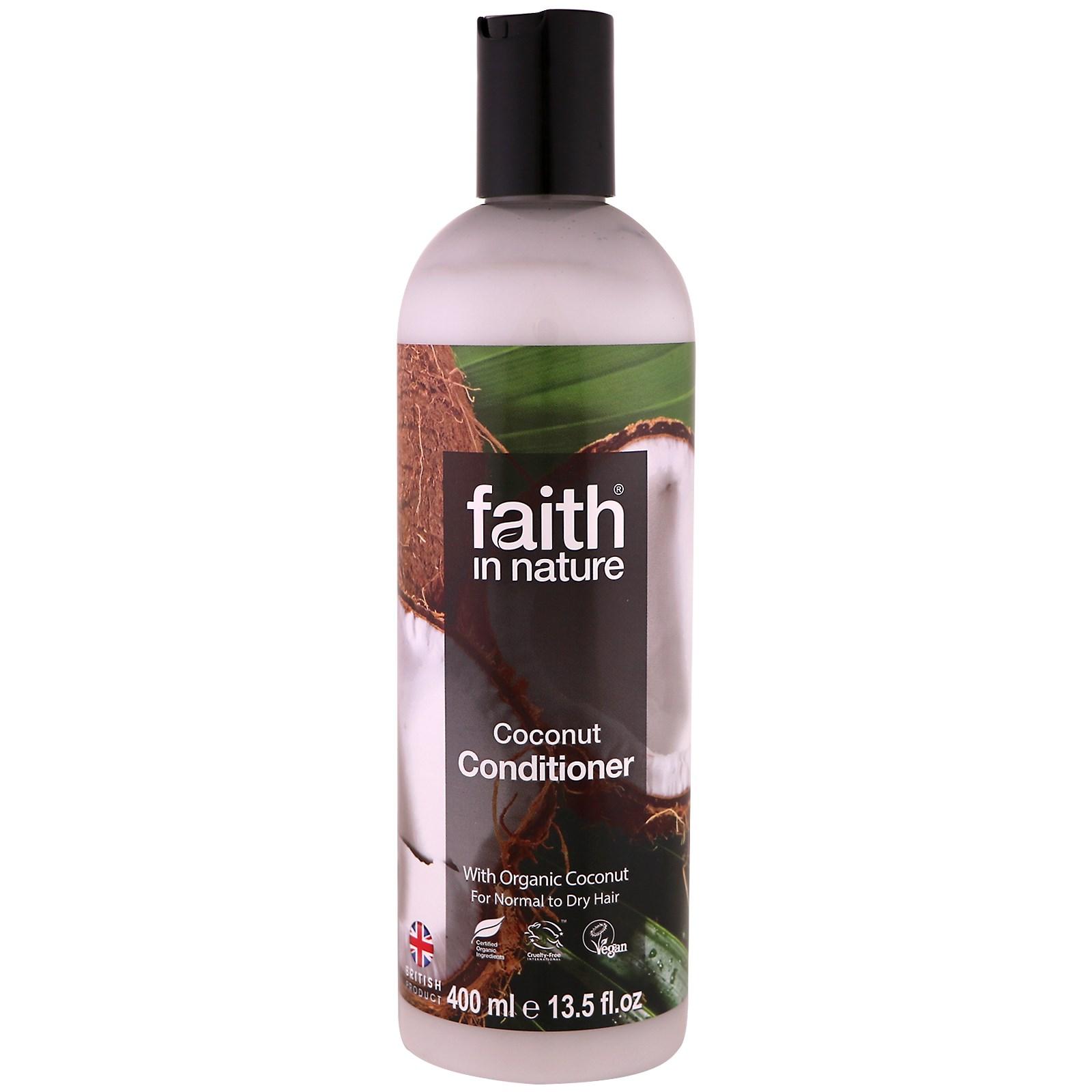 Faith in Nature, Кондиционер, для нормальных и сухих волос, кокос, 13,5 жидк. унц. (400 мл)